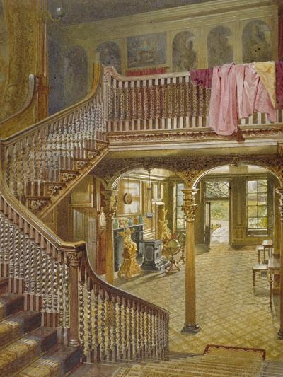 Staircase at Wandsworth Manor House, St John's Hill, Wandsworth, London, 1887-John Crowther-Giclee Print