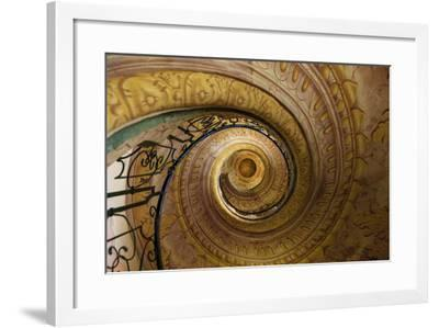 Staircase Between Church and Library. Melk Abbey. Melk. Austria-Tom Norring-Framed Photographic Print