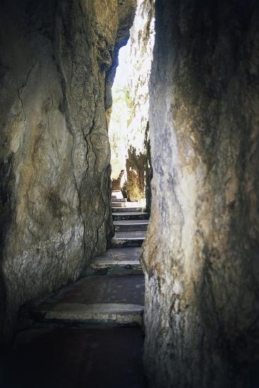 Staircase Carved into Split Mountain, Gaeta, Lazio, Italy--Photographic Print