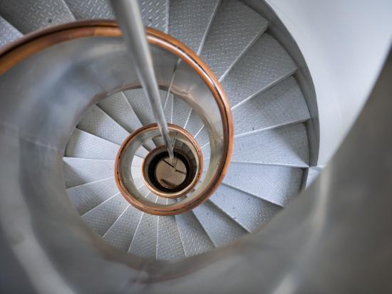 Staircase in Capelinhos Lighthouse-Holger Leue-Photographic Print