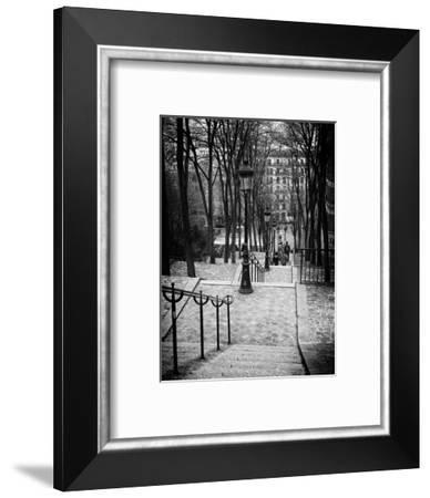 Staircase Montmartre - Paris - France-Philippe Hugonnard-Framed Photographic Print