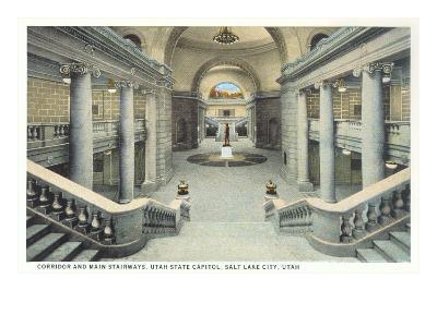 Staircases, State Capitol, Salt Lake City, Utah--Art Print