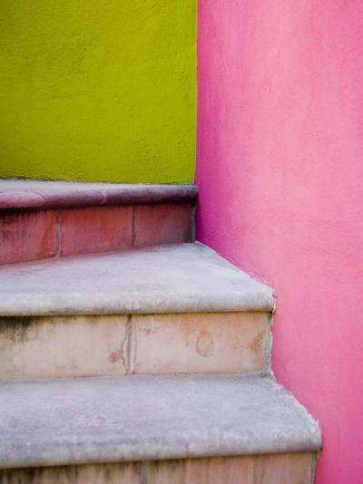 Stairs and Colorful Walls, San Miguel, Guanajuato State, Mexico-Julie Eggers-Photographic Print