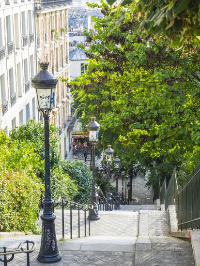 Stairs leading up to Montmartre-Sylvia Gulin-Photographic Print