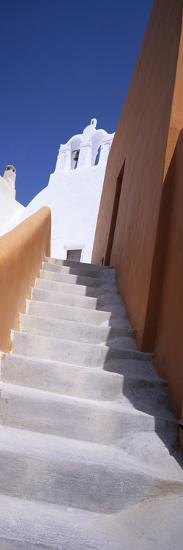 Stairs of a House, Oia, Santorini, Cyclades Islands, Greece--Photographic Print