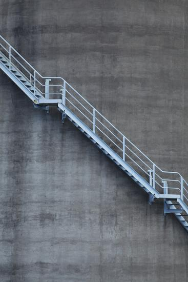 Stairs on Old Silo at Silo Park, Wynyard Quarter, Auckland, North Island, New Zealand-David Wall-Photographic Print