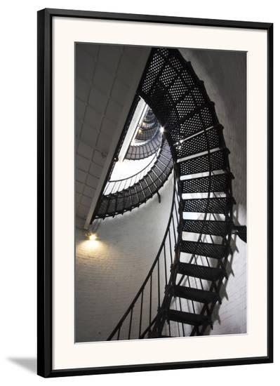Stairs to the Top of the Saint Augustine Lighthouse, Florida, USA-Joanne Wells-Framed Photographic Print