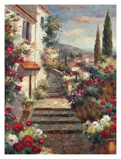 Stairstep Bouquets-Mauro-Art Print