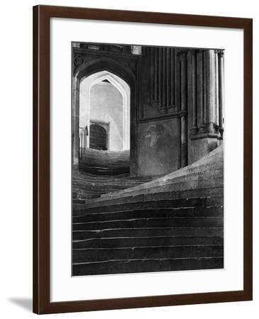 Stairway in Wells Cathedral, England--Framed Photographic Print
