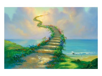 Stairway to Heaven-Jim Warren-Premium Giclee Print