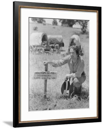 Stake Your Claim--Framed Photo