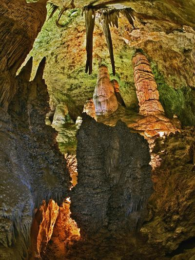 Stalactites and Stalagmites in the Hall of Giants, Big Room, Carlsbad Caverns Np-Adam Jones-Photographic Print