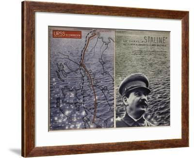 Stalin and the Construction of the Canal from the White Sea to the Baltic Sea--Framed Giclee Print
