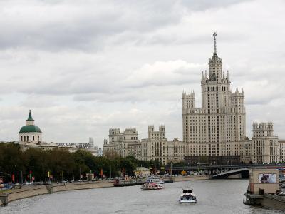 Stalin Era Building at Kotelnicheskaya Embankment, Moscow, Russia-Yadid Levy-Photographic Print