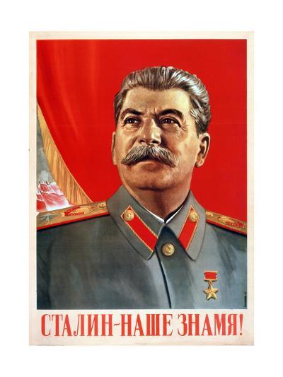 Stalin Is Our Banner!, Poster, 1948-Vasili Suryaninov-Giclee Print