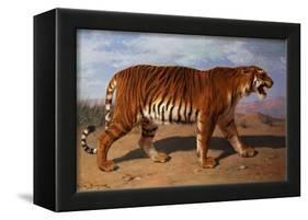 Stalking Tiger-Rosa Bonheur-Framed Premier Image Canvas