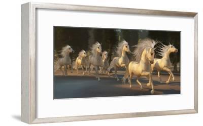 Stallion Run Painting-C^ Ford-Framed Art Print
