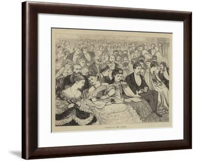 Stalls at the Opera--Framed Giclee Print