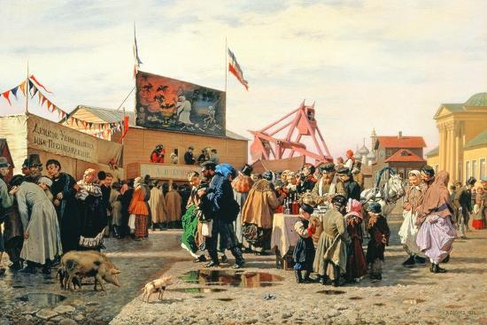 Stalls for Easter Week in Tula, 1868-Andrei Andreevich Popov-Giclee Print