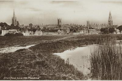 Stamford, Lincolnshire, from the Meadows--Photographic Print