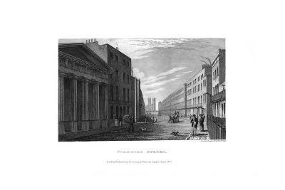Stamford Street, London, 1830-RL Wright-Giclee Print
