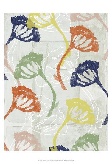 Stamped Floral II-Jennifer Goldberger-Art Print