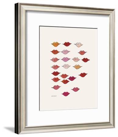 Stamped Lips, c. 1959-Andy Warhol-Framed Art Print