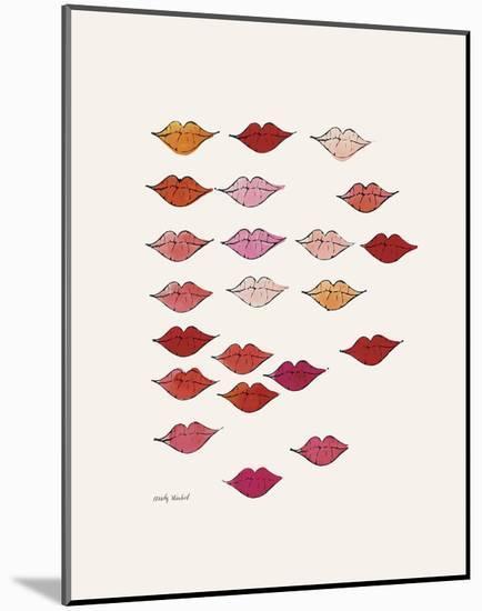 Stamped Lips, c. 1959-Andy Warhol-Mounted Art Print