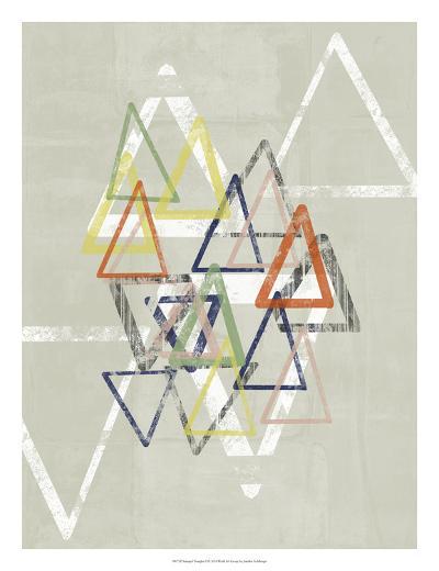 Stamped Triangles II-Jennifer Goldberger-Giclee Print