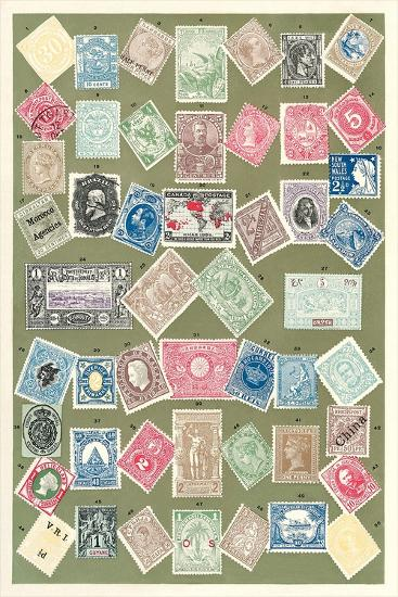 Stamps of the World--Art Print