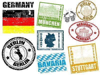Stamps With Germany-radubalint-Art Print