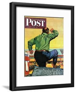 """""""Bowling a Split,"""" Saturday Evening Post Cover, January 6, 1945 by Stan Ekman"""