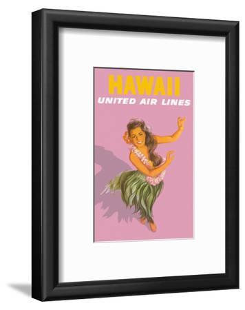 Hawaiian Hula Dancer - United Air Lines