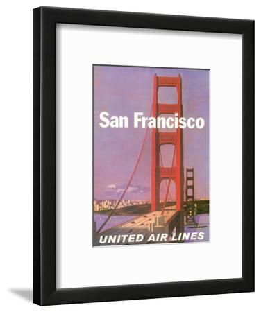 San Francisco - Golden Gate Bridge - United Air Lines