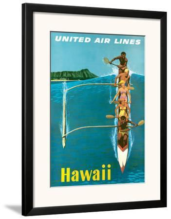 Hawaii United Air Lines Lei Girl Travel Aloha Stan Galli Vintage Poster Print
