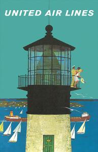 United Air Lines: Lighthouse, c.1960s by Stan Galli
