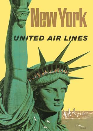United Air Lines: New York, c.1950s by Stan Galli