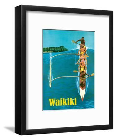 United Air Lines - Waikiki - Outrigger Canoe Surfing