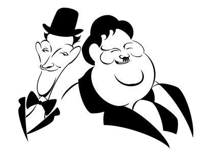 Laurel and Hardy Comedy Piano Canvas Modern Home Art ~ 5 Size to Choose