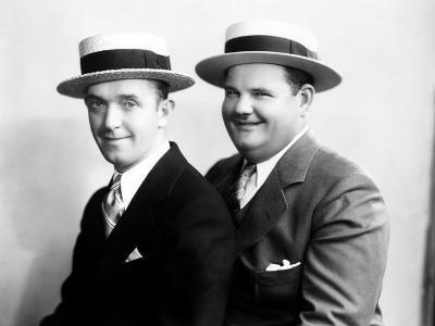 Stan Laurel and Oliver Hardy [Laurel & Hardy] in Early Hal Roach Studio Portrait Shot, c. Mid 1920s--Photo