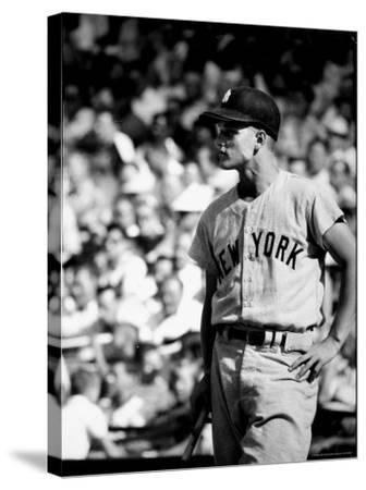 Good Informal Portrait NY Yankees Right Fielder Roger Maris Leaning on Bat During All Star Game