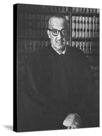 Portrait of US Supreme Court Justice Thurgood Marshall in His Chambers