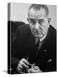 President Lyndon B. Johnson by Stan Wayman