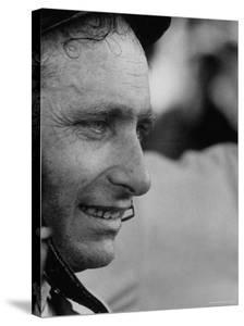 Race Car Driver Juan Manuel Fangio at the Grand Prix by Stan Wayman