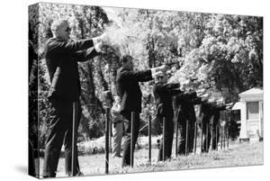 Secret Service Agents in Training Shooting Targets, Washington DC, 1968 by Stan Wayman