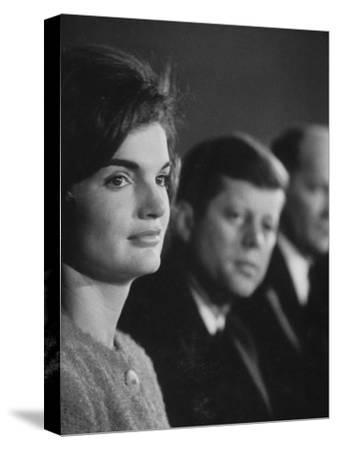 Senator John F. Kennedy and Wife Campaigning in Democratic Presidential Primaries