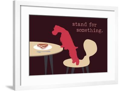 Stand - Darker Version-Dog is Good-Framed Art Print