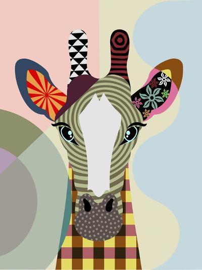 Stand Tall Giraffe-Lanre Adefioye-Giclee Print