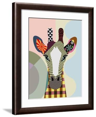 Stand Tall Giraffe-Lanre Adefioye-Framed Giclee Print