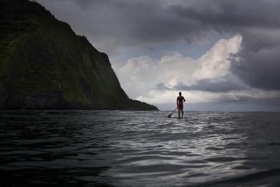 Stand Up Paddle Boarding in Waipi'O Bay-Chris Bickford-Photographic Print